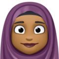 Woman With Headscarf: Medium-Dark Skin Tone on Facebook 3.1