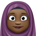 Woman With Headscarf: Dark Skin Tone on Facebook 3.1