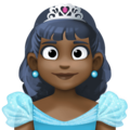 Princess: Dark Skin Tone on Facebook 3.1