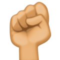 Raised Fist: Medium Skin Tone on Facebook 3.1