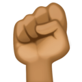 Raised Fist: Medium-Dark Skin Tone on Facebook 3.1