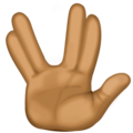 Vulcan Salute: Medium-Dark Skin Tone on Facebook 3.1