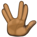 Vulcan Salute: Dark Skin Tone on Facebook 3.1