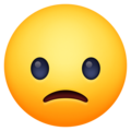 Slightly Frowning Face on Facebook 3.1