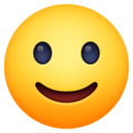 Slightly Smiling Face on Facebook 3.1
