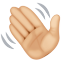 Waving Hand: Medium-Light Skin Tone on Facebook 3.1