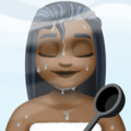 Woman in Steamy Room: Dark Skin Tone on Facebook 3.1