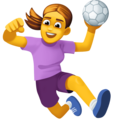 Woman Playing Handball on Facebook 3.1