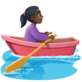 Woman Rowing Boat: Dark Skin Tone on Facebook 3.1
