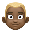 Man: Dark Skin Tone, Blond Hair on Facebook 4.0
