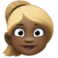 Woman: Dark Skin Tone, Blond Hair on Facebook 4.0
