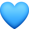 Blue Heart on Facebook 4.0