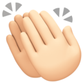 Clapping Hands: Light Skin Tone on Facebook 4.0