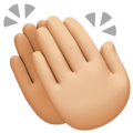 Clapping Hands: Medium-Light Skin Tone on Facebook 4.0