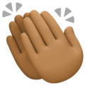 Clapping Hands: Medium-Dark Skin Tone on Facebook 4.0