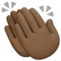 Clapping Hands: Dark Skin Tone on Facebook 4.0