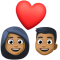Couple With Heart: Medium-Dark Skin Tone on Facebook 4.0