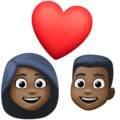 Couple With Heart: Dark Skin Tone on Facebook 4.0