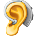 Ear with Hearing Aid on Facebook 4.0