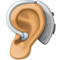 Ear with Hearing Aid: Medium Skin Tone on Facebook 4.0