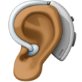 Ear with Hearing Aid: Medium-Dark Skin Tone on Facebook 4.0