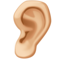Ear: Medium-Light Skin Tone on Facebook 4.0