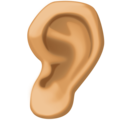 Ear: Medium Skin Tone on Facebook 4.0