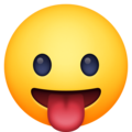 Face with Tongue on Facebook 4.0