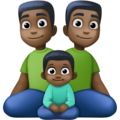 Family - Man: Dark Skin Tone, Man: Dark Skin Tone, Boy: Dark Skin Tone on Facebook 4.0