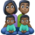 Family - Man: Dark Skin Tone, Woman: Dark Skin Tone, Boy: Dark Skin Tone, Boy: Dark Skin Tone on Facebook 4.0