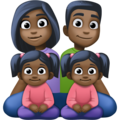 Family - Man: Dark Skin Tone, Woman: Dark Skin Tone, Girl: Dark Skin Tone, Girl: Dark Skin Tone on Facebook 4.0