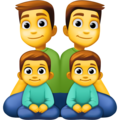 Family: Man, Man, Boy, Boy on Facebook 4.0