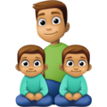 Family - Man: Medium Skin Tone, Boy: Medium Skin Tone, Boy: Medium Skin Tone on Facebook 4.0