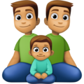Family - Man: Medium Skin Tone, Man: Medium Skin Tone, Boy: Medium Skin Tone on Facebook 4.0