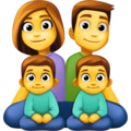 Family: Man, Woman, Boy, Boy on Facebook 4.0