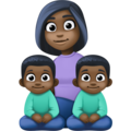 Family - Woman: Dark Skin Tone, Boy: Dark Skin Tone, Boy: Dark Skin Tone on Facebook 4.0