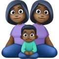 Family - Woman: Dark Skin Tone, Woman: Dark Skin Tone, Boy: Dark Skin Tone on Facebook 4.0