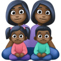 Family - Woman: Dark Skin Tone, Woman: Dark Skin Tone, Girl: Dark Skin Tone, Boy: Dark Skin Tone on Facebook 4.0
