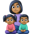 Family - Woman: Medium-Dark Skin Tone, Girl: Medium-Dark Skin Tone, Boy: Medium-Dark Skin Tone on Facebook 4.0