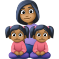 Family - Woman: Medium-Dark Skin Tone, Girl: Medium-Dark Skin Tone, Girl: Medium-Dark Skin Tone on Facebook 4.0