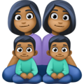 Family - Woman: Medium-Dark Skin Tone, Woman: Medium-Dark Skin Tone, Boy: Medium-Dark Skin Tone, Boy: Medium-Dark Skin Tone on Facebook 4.0