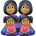 Family - Woman: Medium-Dark Skin Tone, Woman: Medium-Dark Skin Tone, Girl: Medium-Dark Skin Tone, Girl: Medium-Dark Skin Tone on Facebook 4.0