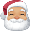 Santa Claus: Medium-Light Skin Tone on Facebook 4.0