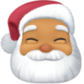 Santa Claus: Medium Skin Tone on Facebook 4.0