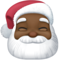Santa Claus: Dark Skin Tone on Facebook 4.0