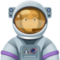 Woman Astronaut: Medium Skin Tone on Facebook 4.0