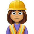 Woman Construction Worker: Medium Skin Tone on Facebook 4.0