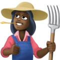 Woman Farmer: Dark Skin Tone on Facebook 4.0