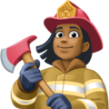 Woman Firefighter: Medium-Dark Skin Tone on Facebook 4.0