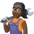 Woman Mechanic: Dark Skin Tone on Facebook 4.0